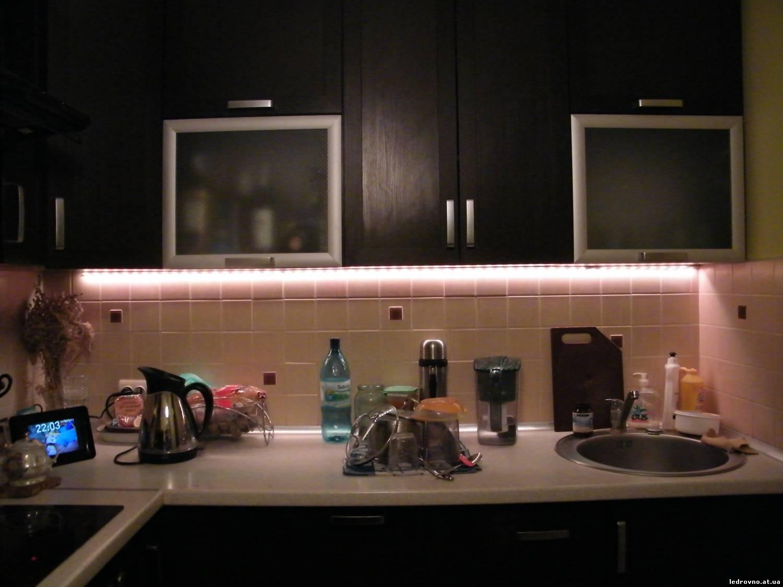 Как сделать светодиодная подсветка рабочей зоны кухни