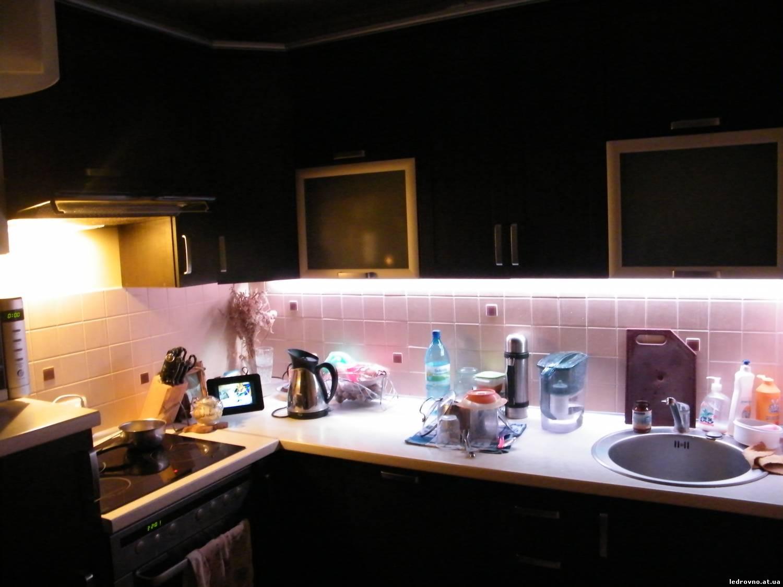 Как сделать освещение рабочей зоны на кухне
