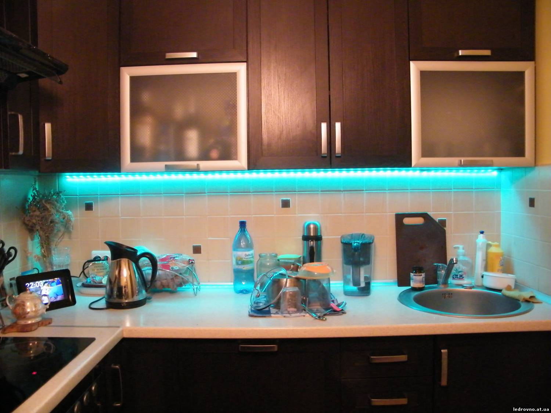 Подсветка стола на кухне своими руками